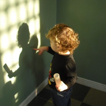 Shadow play in the Infant Room