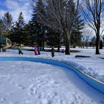 Visiting the wading pool in March